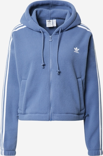 ADIDAS ORIGINALS Fleecejacke in blau / weiß, Produktansicht