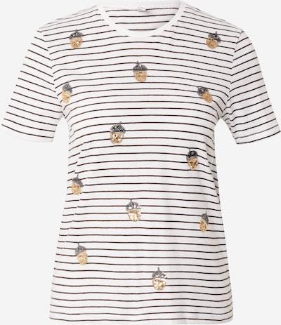 ONLY T-shirt 'KITA' en or / noir / blanc, Vue avec produit