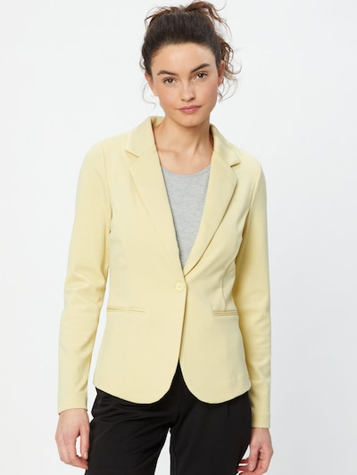 ICHI Blazer in light yellow: Frontal view