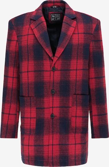MO Prechodný kabát - tmavosivá / červená, Produkt