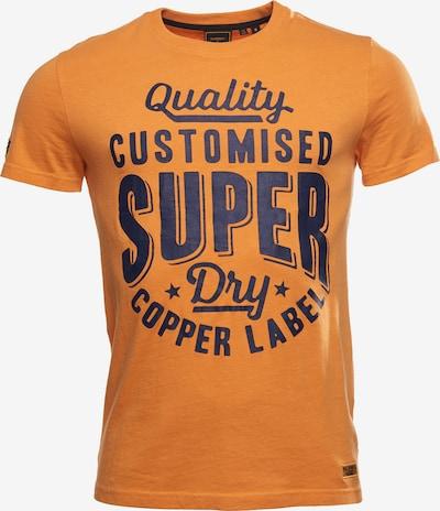 Superdry Shirt in de kleur Blauw / Sinaasappel, Productweergave