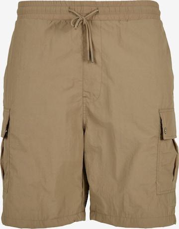 Urban Classics Big & Tall Klapptaskutega püksid, värv pruun