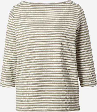 ESPRIT Sweat-shirt en kaki / blanc, Vue avec produit