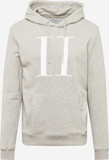 Les Deux Sweat-shirt en gris chiné / blanc, Vue avec produit