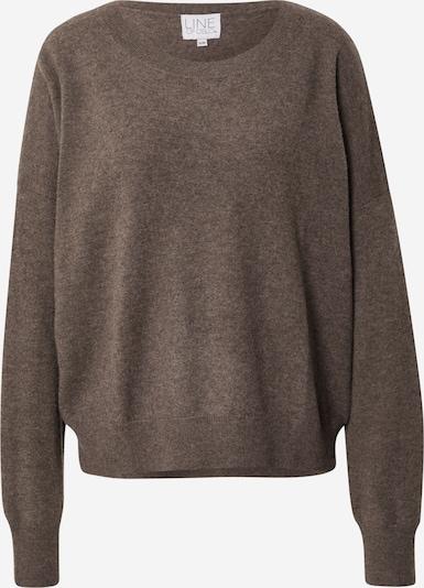 Line of Oslo Pullover 'Thea' in braunmeliert, Produktansicht