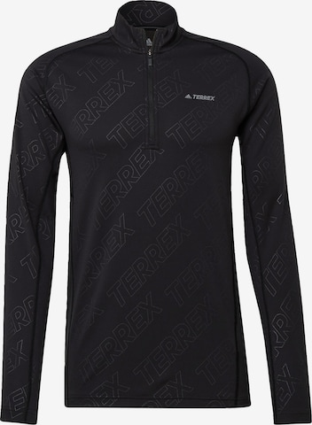 adidas Terrex Funktionsshirt 'TERREX Tracerocker' in Schwarz