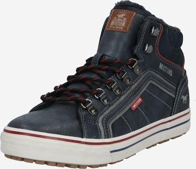 MUSTANG Buty sznurowane w kolorze gołąbkowo niebieski / karmelowy / szaro-beżowym, Podgląd produktu