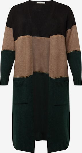 Palton tricotat 'Adriana' Guido Maria Kretschmer Curvy Collection pe verde / negru, Vizualizare produs