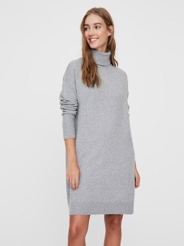 VERO MODA Gebreide jurk 'BRILLIANT' in Grijs