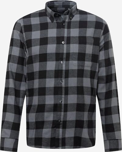 Matinique Hemd 'Trostol' in hellgrau / graumeliert / schwarz, Produktansicht