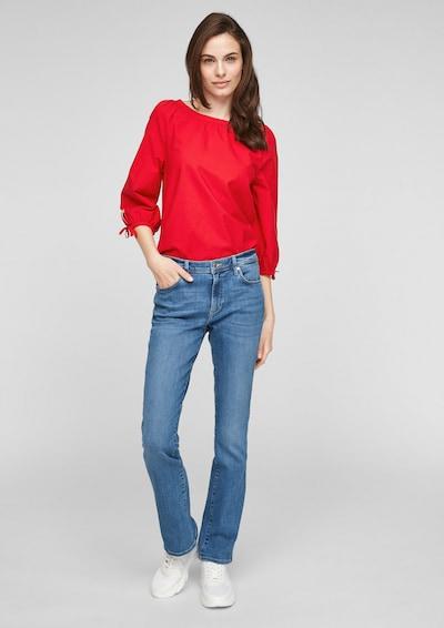 s.Oliver Bluse in rot, Modelansicht