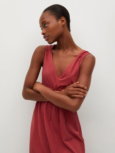MANGO Kleid 'DOMENICO' in rostrot, Modelansicht