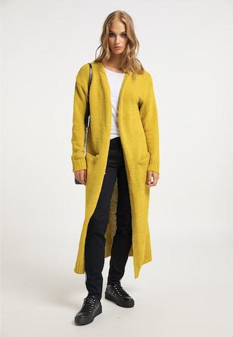 myMo ROCKSDuži kardigan - žuta boja