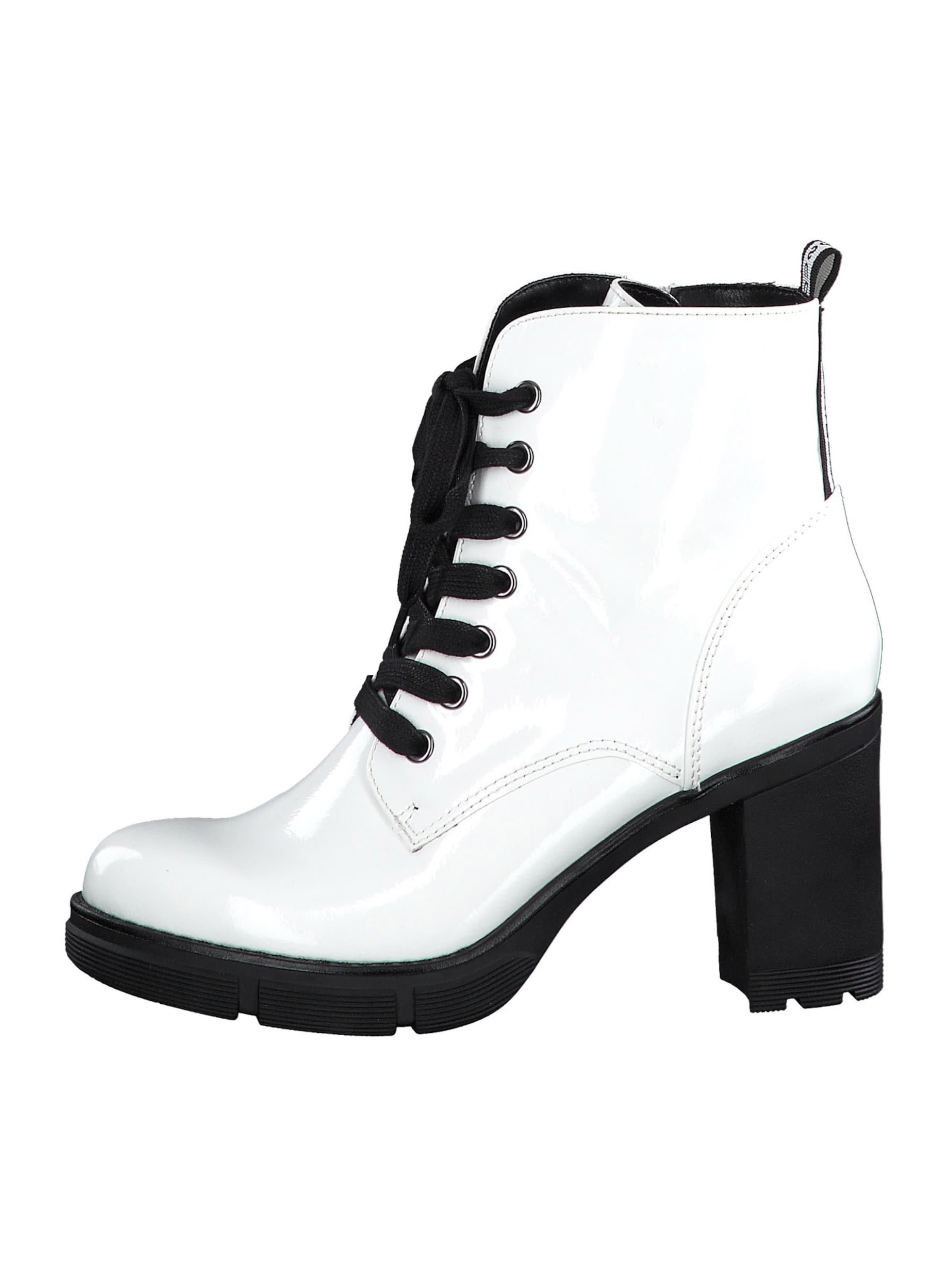 MARCO TOZZI Stiefelette in weiß