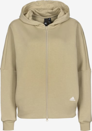 ADIDAS PERFORMANCE Sportief sweatvest 'Wording' in de kleur Sand / Wit, Productweergave