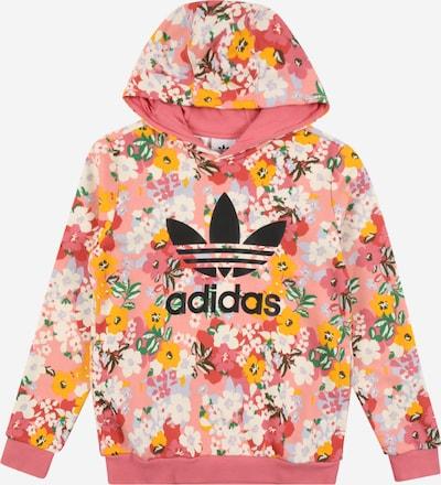 ADIDAS ORIGINALS Sweatshirt in limone / rosa / rosé / schwarz / weiß, Produktansicht