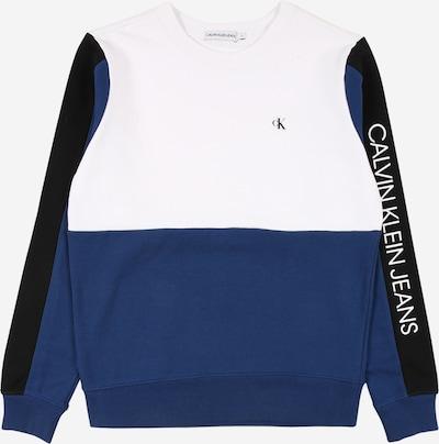 Calvin Klein Jeans Sweatshirt in blau / schwarz / weiß, Produktansicht