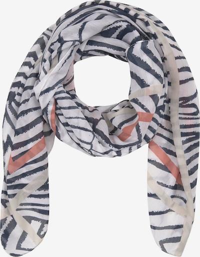 TOM TAILOR Sjaal in de kleur Rood / Zwart / Wit, Productweergave