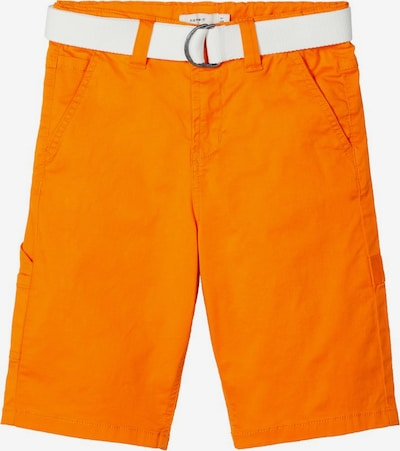 NAME IT Hose 'Skater' in orange / weiß, Produktansicht