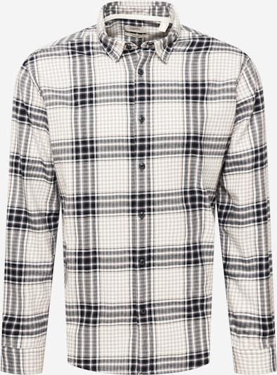 ESPRIT Hemd in cappuccino / schwarz / weiß, Produktansicht
