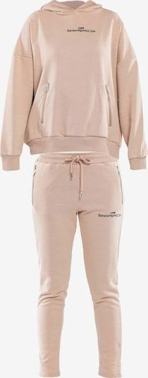 Tom Barron Trainingsanzug in beige, Produktansicht