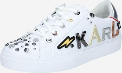 Karl Lagerfeld Nizke superge 'SKOOL' | rumena / zlata / črna / srebrna / bela barva: Frontalni pogled