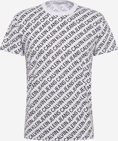 Calvin Klein Jeans Тениска 'DIAGONAL' в черно / бяло, Преглед на продукта