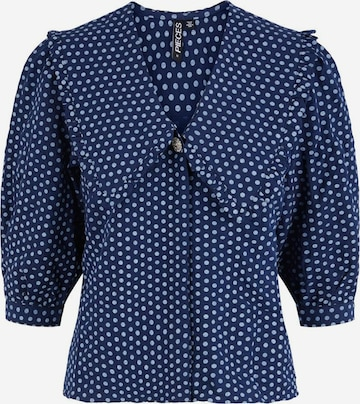 PIECES Bluse 'Pys' in Blau