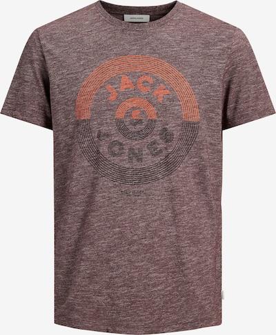 JACK & JONES Shirt in weinrot / hellrot / rotmeliert, Produktansicht
