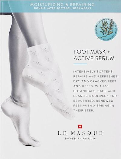 Le Masque Switzerland Fußpmaske 'Double Layer Softtech  Moisturizing & Repairing' in weiß, Produktansicht