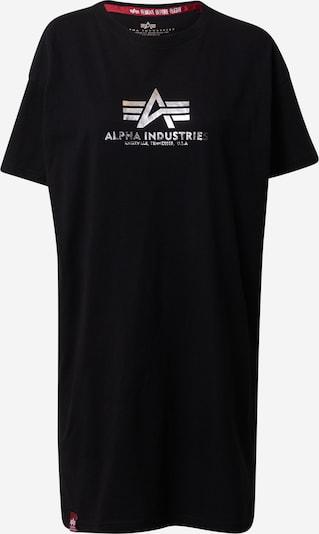 ALPHA INDUSTRIES Shirt in schwarz / silber, Produktansicht