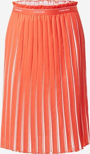 Fustă Calvin Klein pe roșu orange / alb, Vizualizare produs