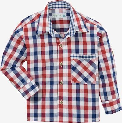 Isar-Trachten Trachtenhemd in blau / rot / weiß, Produktansicht
