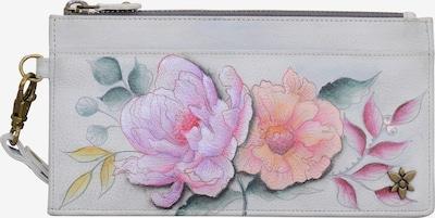 ANUSCHKA Mini Geldbörse 'BEL FIORI' in rosa / weiß, Produktansicht