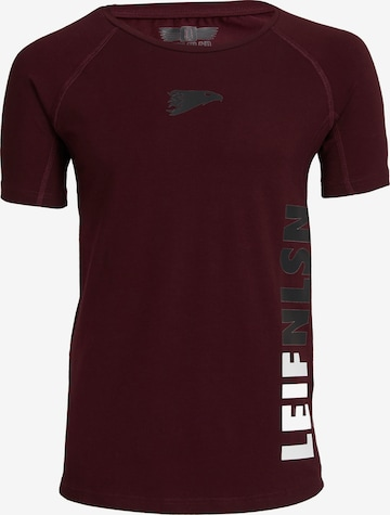 Leif Nelson Gym T-Shirt Rundhals in Rot