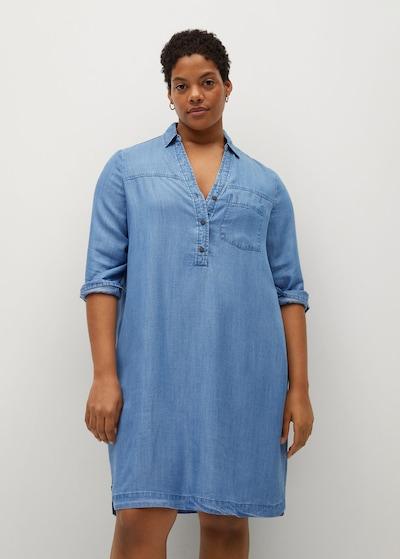 MANGO Kleid 'Fineta' in blue denim, Modelansicht