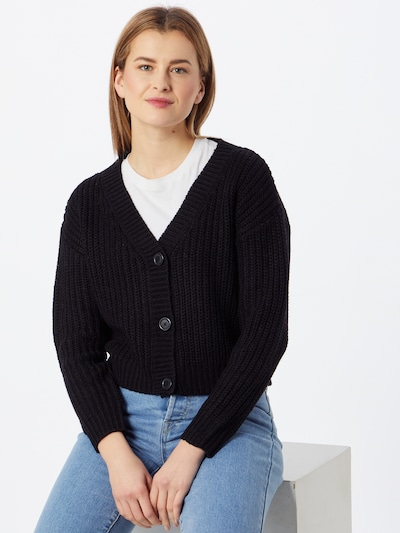 ABOUT YOU Knit cardigan 'Lotte' in Black, View model