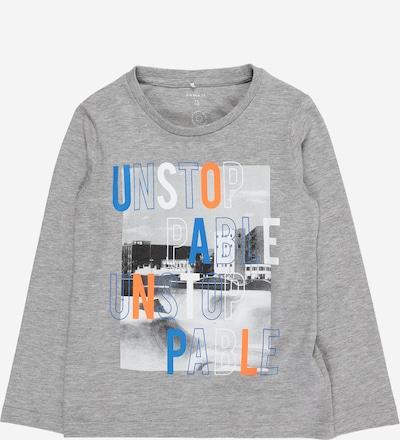 NAME IT Majica 'Nantos' u plava / grafit siva / siva melange / tamno narančasta / bijela, Pregled proizvoda