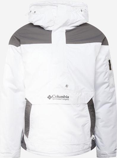COLUMBIA Sportjacke 'Challenger' in dunkelgrau / weiß, Produktansicht