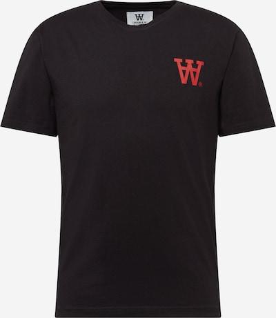WOOD WOOD Tričko 'ACE' - červená / černá: Pohled zepředu
