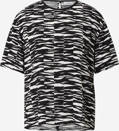 Calvin Klein Bluza | črna / bela barva, Prikaz izdelka