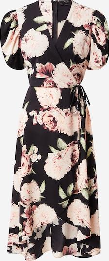 AX Paris Kleid in hellgrün / pastellpink / schwarz, Produktansicht