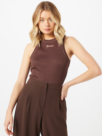 NU-IN Topp 'Genesis' i brun / rosa, På modell