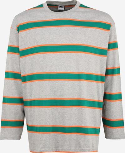 Urban Classics Plus Size Tričko - svetlosivá / zelená / oranžová, Produkt
