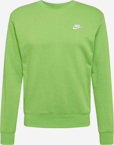 Nike Sportswear Sweat-shirt en vert fluo, Vue avec produit