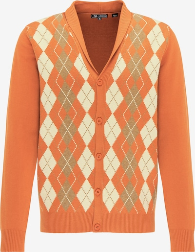 MO Gebreid vest in de kleur Beige / Donkerbeige / Sinaasappel, Productweergave