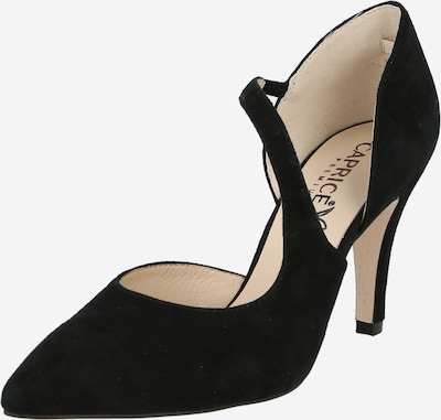 CAPRICE Čevlji s peto | črna barva, Prikaz izdelka