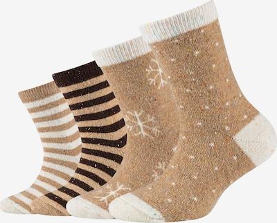 camano Socks in Light brown / Black / White, Item view