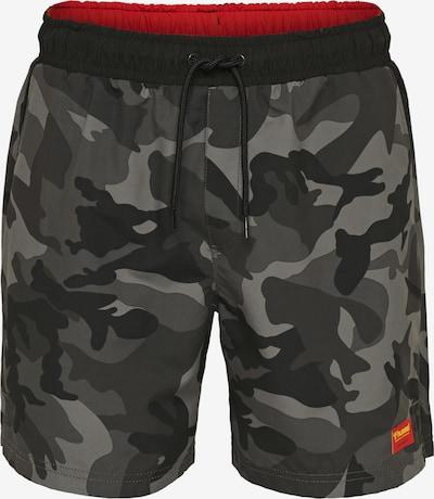 Hummel Boardshorts in grau / schwarz, Produktansicht
