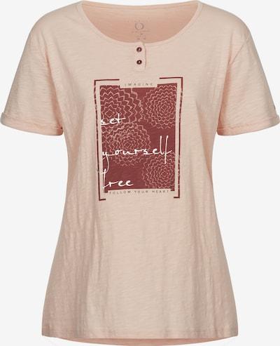 LPO T-Shirt 'Stina' in altrosa / rostrot / schwarz / weiß, Produktansicht